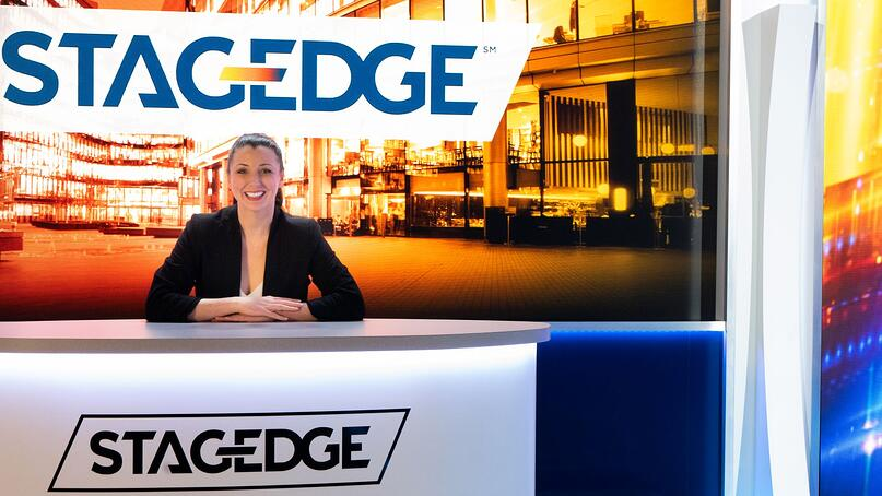 Edie from Stagedge at the News Desk on our Virtual Main Stage