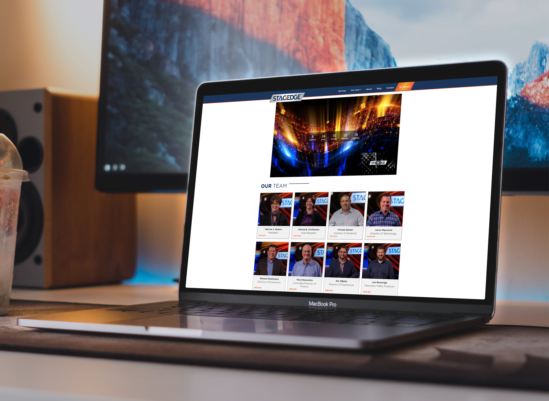 Macbook Mockup on Table - In-page Experience